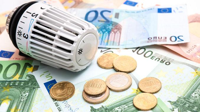 Geld met radiatorknop